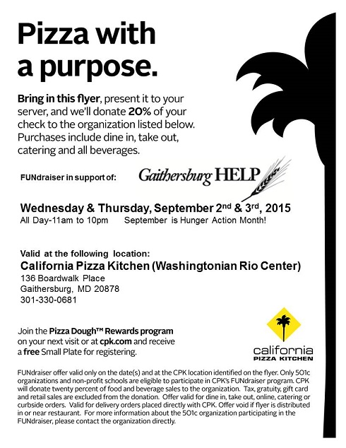 California Pizza Kitchen Rio Gaithersburg